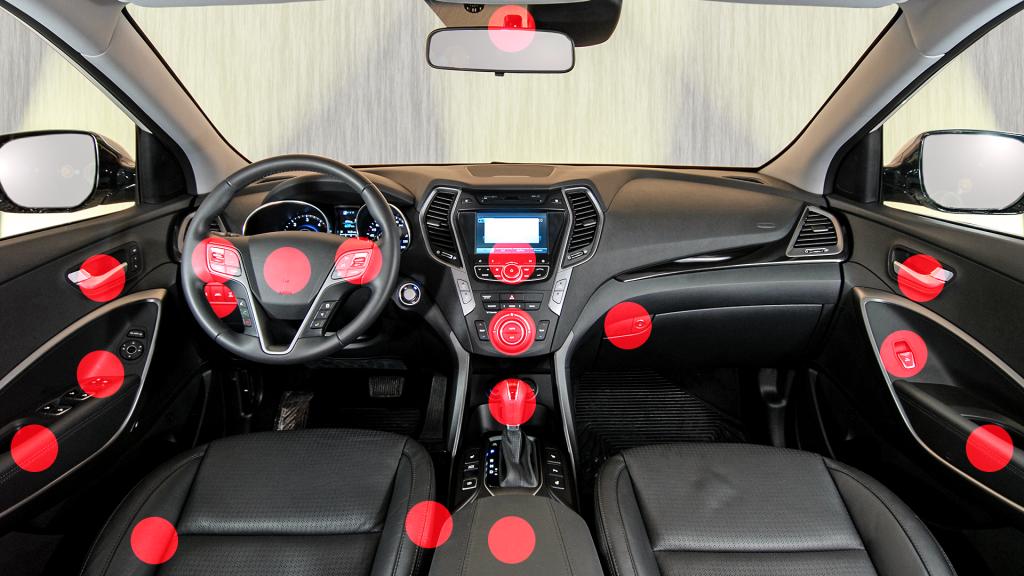 Kézzel érintkező felületek fertőtlenítése az autóüvegek szervizelése előtt és után